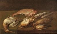 nature morte aux oiseaux et poissons by alexander adriaenssen the elder