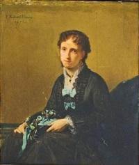 femme de qualité by tony robert-fleury