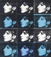 12 barbra's - black, turqouise, white (from the jewish jackie series) by deborah kass