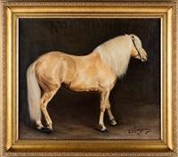 портрет соловой лошади by elisaveta sachorovna krassnuschkina