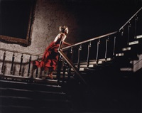 the girl in the red dress, by david drebin