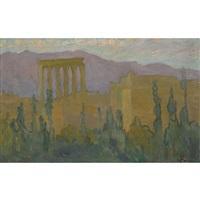 the temple of baalbek, lebanon by konstantinos maleas