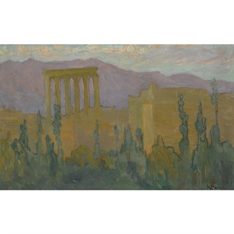 the temple of baalbek lebanon by konstantinos maleas