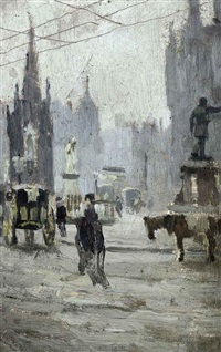 albert square (study) by pierre adolphe valette