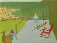 beach house (porch and chairs) by milton avery