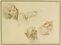 hands (studies; 2 works) by william allan