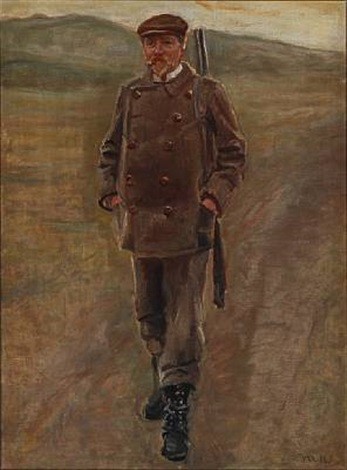 mayor bornemann in hunting garb denmark by michael peter ancher
