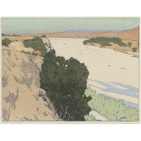 california 1 - salinas river by frank morley fletcher