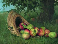 apples and a straw hat by rufus way smith