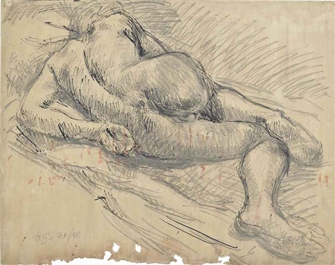 nude sleeping paul roche writing figure in a kilt 3 works by duncan grant