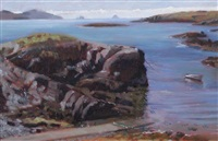 the blue island bay near allihies (the cow and bull in the distance) by blaise smith