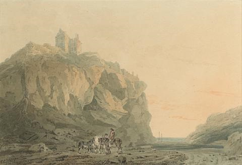 dunotter castle kincardineshire by joseph mallord william turner