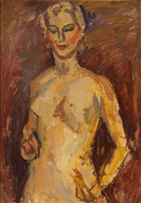 weiblicher halbakt by leon abramowicz