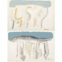untitled (landscape) (+ untitled, landscape; 2 works) by gandy brodie