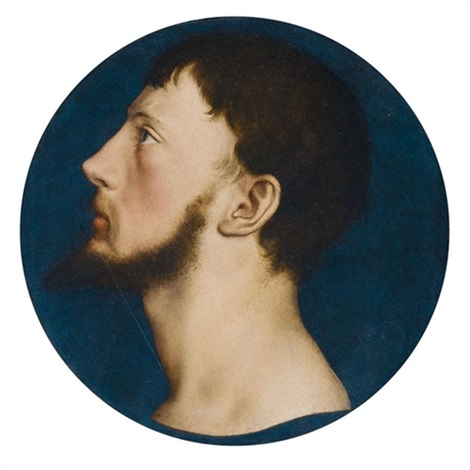 portrait of sir thomas wyatt the younger, head and neck in <b>full profile</b> by ... - hans-holbein-the-younger-portrait-of-sir-thomas-wyatt-the-younger,-head-and-neck-in-full-profile