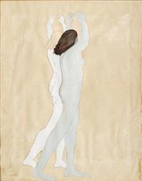 mujeres con los brazos en alto by manuel rodríguez lozano