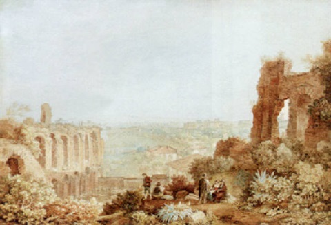 a view of rome by henri lévêque