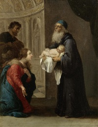 simeon and the christ child by david teniers the younger