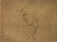 szkic do portretu madonny by piotr stachiewicz