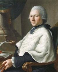 portrait de l'abbé baudot, grand vicaire, cardinal de la luzerne by jean baptiste laurent