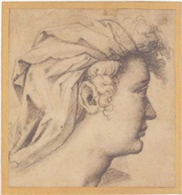 study of the head of a turbaned woman by girolamo macchietti