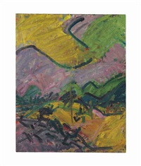 primrose hill, autumn by frank auerbach