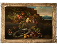 table still life with fruit and a silver dish by jan pauwel gillemans the younger
