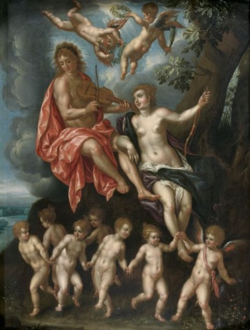 diane et apollon by hendrick de clerck