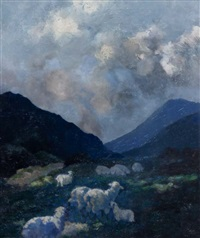 bluebells, connemara by lilian lucy davidson