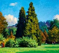 walk in a park in nagybánya by andrás mikola