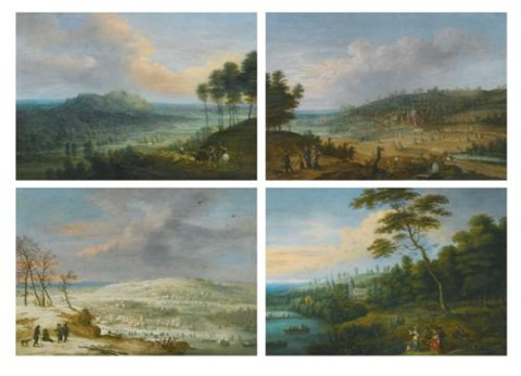 the four seasons set of 4 by lucas van uden