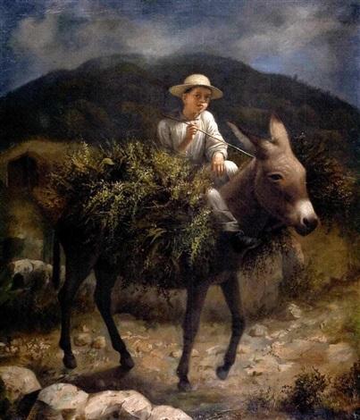 niño con burro by rodrigo gutiérrez