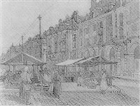 fruit market, dieppe by william ratcliffe
