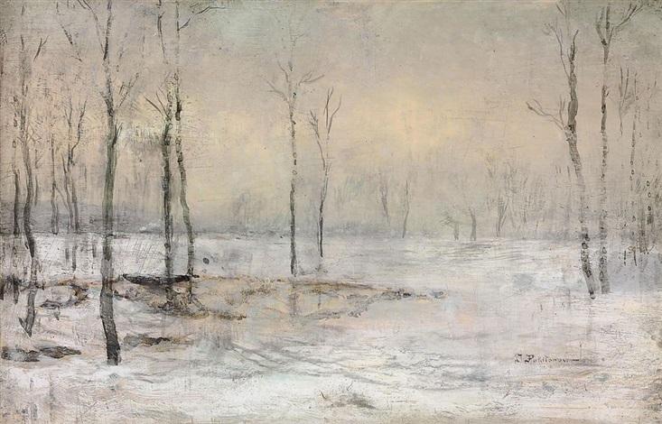 clairière sous la neige minsk by ivan pavlovich pokhitonov