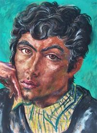 retrato de joven by antonio berni