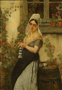 het naaistertje by jules breton