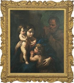 den heliga familjen och johannes by nicola vaccaro