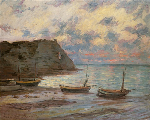COUCHER DE SOLEIL A ETRETAT by Claude Monet on artnet