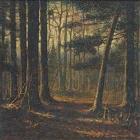 forest scene by vivian milner akers