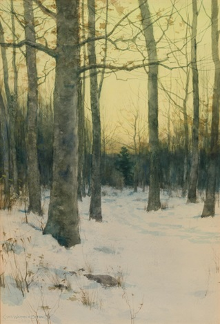 early morning, winter by charles warren eaton