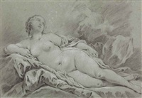a reclining female nude by pierre joseph charles le mettais