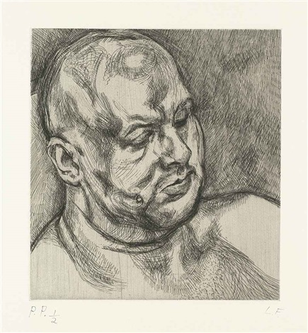 head of man by lucian freud