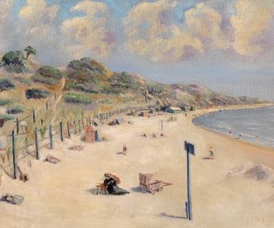 strand in nordfrankreich by fernand piet