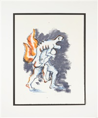 aeneas carrying his father from their burning home by jacques lipchitz