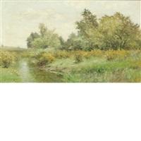 verdant landscape by albert babb insley