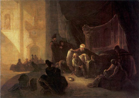 jacob giving joseph the coat of many colours by adriaen gael the younger