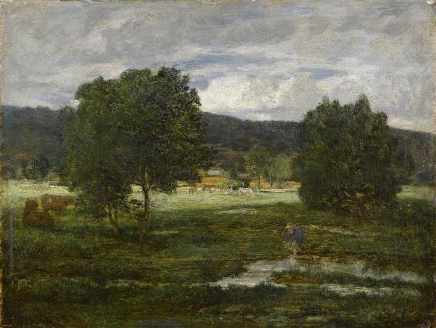 paysage boisé by eugène boudin