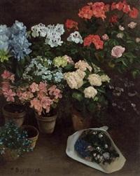 pots de fleurs by frédéric bazille