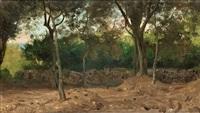 skogsdunge med mur, italienska kusten by olof arborelius