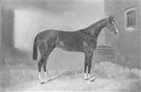 horse in a stable by george hepper